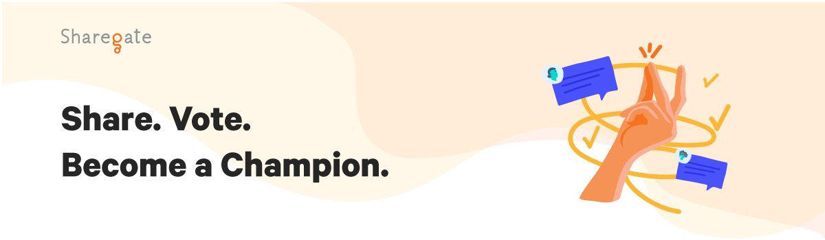 Share. Vote. Become a Champion